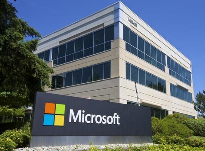 A building on Microsoft's Redmond Washington campus