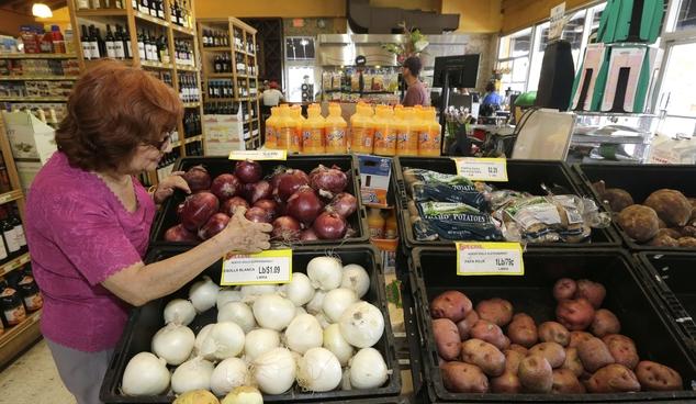 2015 shopper Julia Esquivel picks onions at a local grocery store in the Little Havana area of Miami. The Labor Department repo