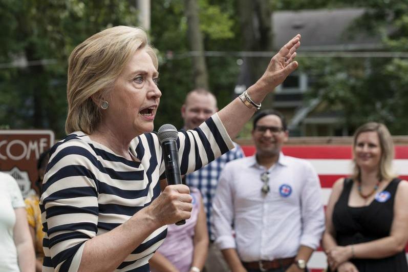Democratic U.S presidential candidate Hillary Clinton