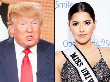 Donald Trump and Paulina Vega