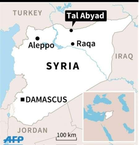 Kurdish fighters seized Tal Abyad on June 16