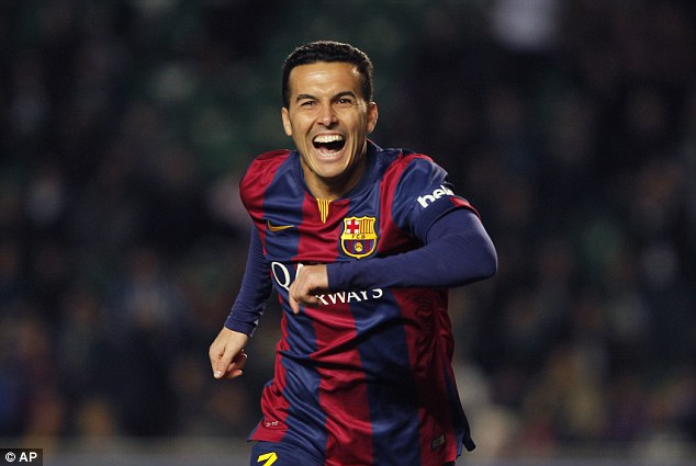 Chelsea have hijacked Manchester United's deal with Barcelona for forward Pedro
