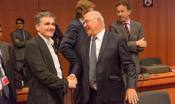 Euclid Tsakalotos and Michel Sapin