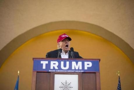Donald Trump in Oklahoma City on Friday
