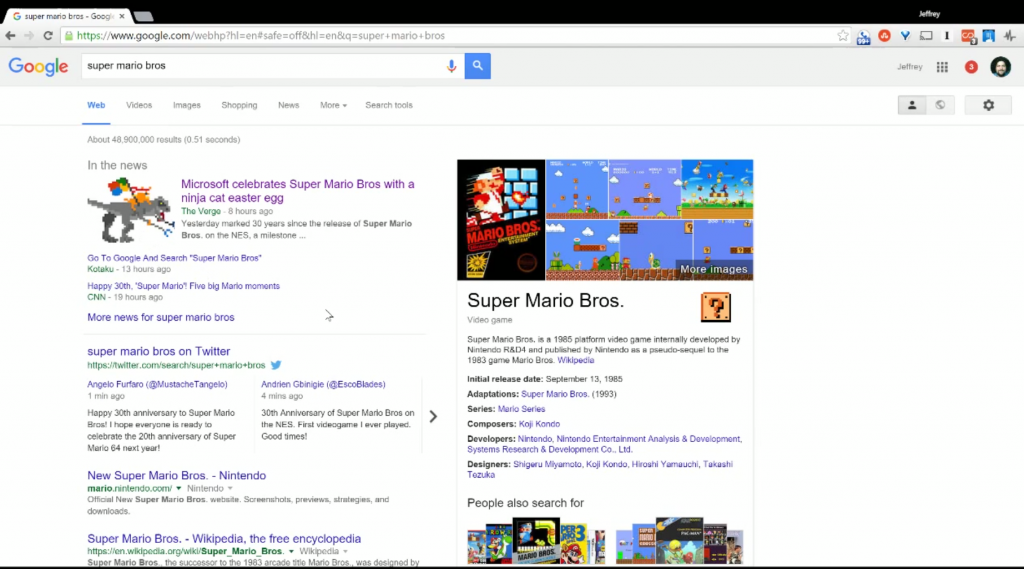 Super Mario Bros. on Google has a hidden secret. Can you find
