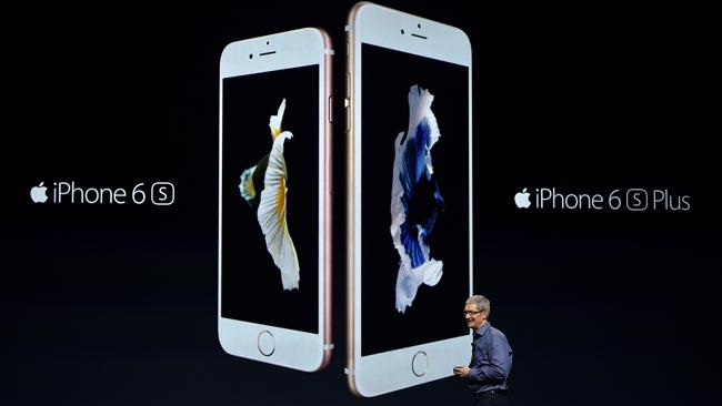 Apple CEO Tim Cook introduces the new iPhone 6s and 6s Plus