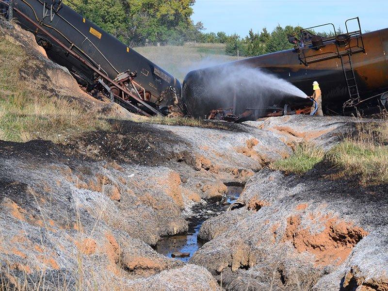 7 Ethanol Cars Derail 2 Catch Fire In Southeast South Dakota