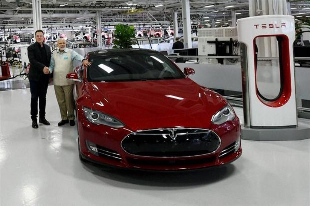 Tesla Motors PM Modi Visit