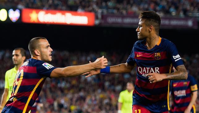 On target Neymar