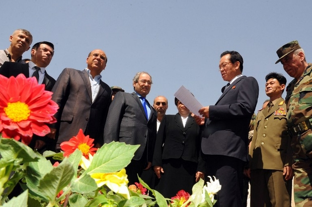 In war-torn Syria, a garden grows... for North Korea founder