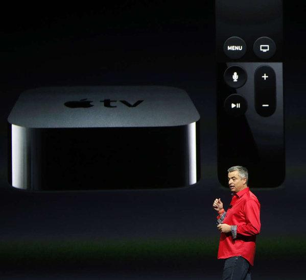 KARL MONDON  TRIBUNE NEWS SERVICE Apple exec Eddy Cue introduces the new Apple TV