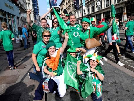 Irish fans invade Cardiff city centre