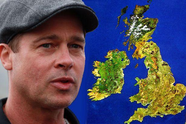 Is Brad Pitt heading over the pond