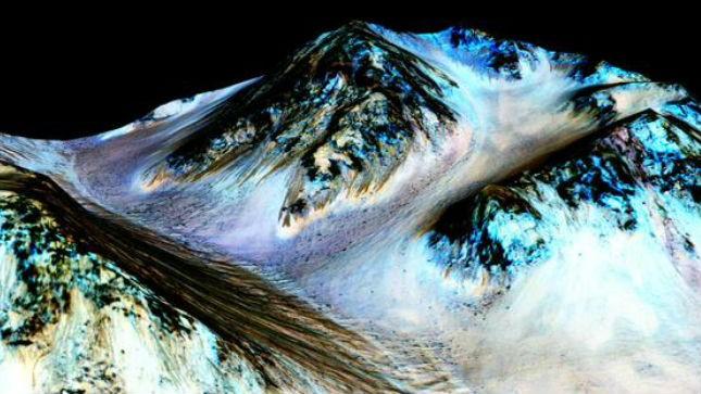 Evidence of 'flowing liquid water' on Mars: NASA