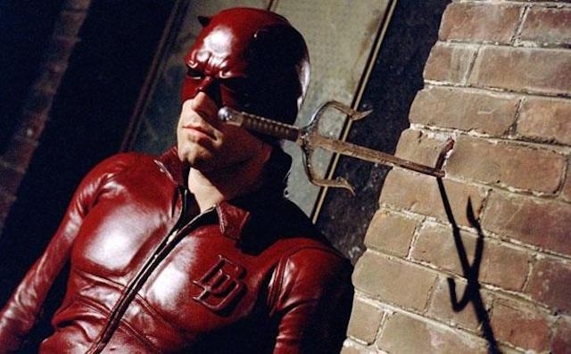 Ben Affleck looking dejected as Daredevil
