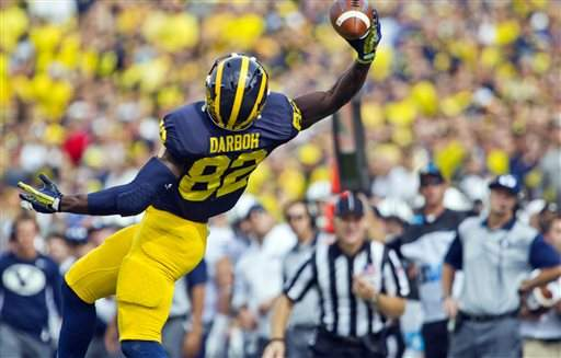 Michigan WR Amara Darboh officially becomes a US citizen