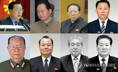 Korean party officials who used to and are presumed to be dealing with the North's missile and nuclear development. Kim Chun-sop and Hong Yong-chil are presumed to have assumed key posts handling
