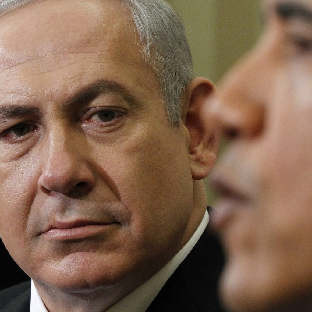 Israeli Prime Minister Benjamin Netanyahu listens as President Barack Obama speaks during their meeting Monday March 5 2012 in the Oval Office of the White House in Washington