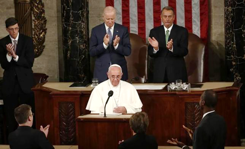 Pope tells Congress US should reject hostility to immigrants