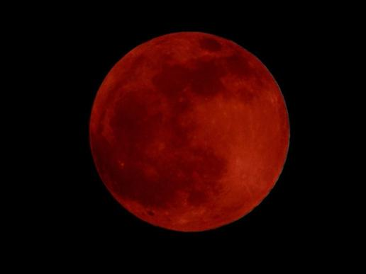 A rare'blood moon will be visible in the sky in the early hours of Monday 28th September