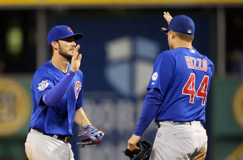 Chicago Cubs celebrate playoff berth with Wrigley Field fans