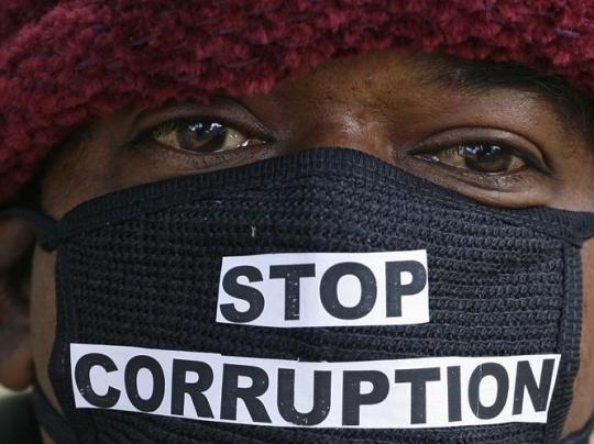 Anti-corruption protesters march
