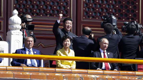 Xi makes a fist of things with Park