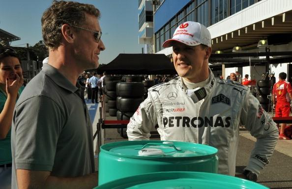 Michael Schumacher David Coulthard Interlagos 2012'4