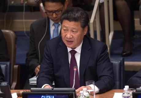 Xi Jinping China's president said that his country will contribute $12 billion to the effort over the next 15 years