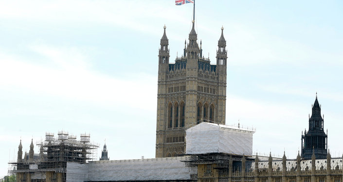 The Houses of Parliament in Westminster in London