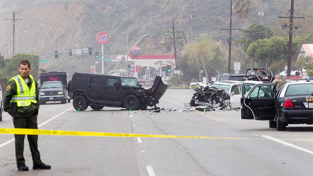 Caitlyn Jenner Car Crash Malibu