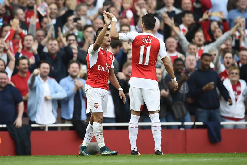 Alexis Sanchez has a successful shot conversion rate of 21.7% this term