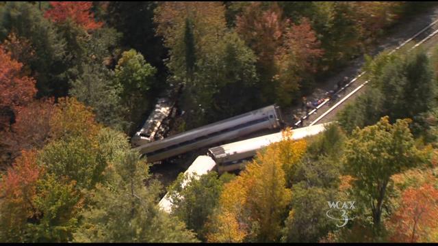 Amtrak train derails near Rocksbury, Vermont
