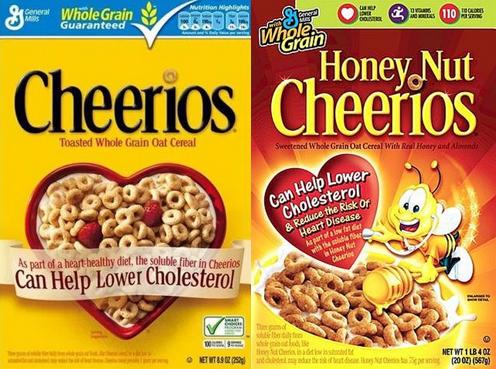 Cheerios and Honey Nut Cheerios