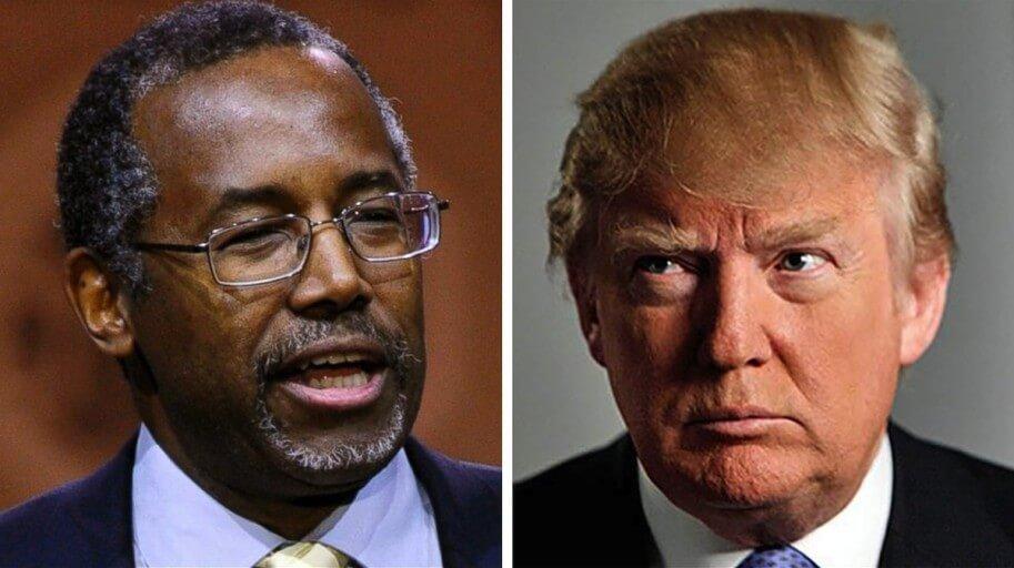 WJ images Carson v Trump