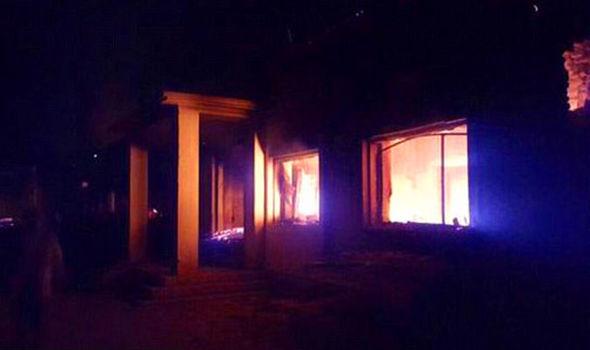 Medecins Sans Frontieres hospital burning in Kunduz in Afghanistan