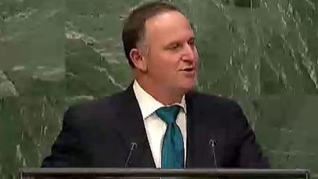 Key's speech follows Foreign Affairs Minister Murray McCully's hard-hitting salvo against the UN Security Council