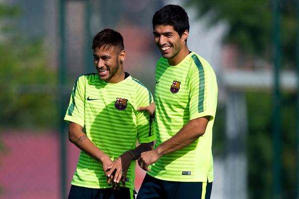 Barcelona Forwards Neymar and Luis Suarez