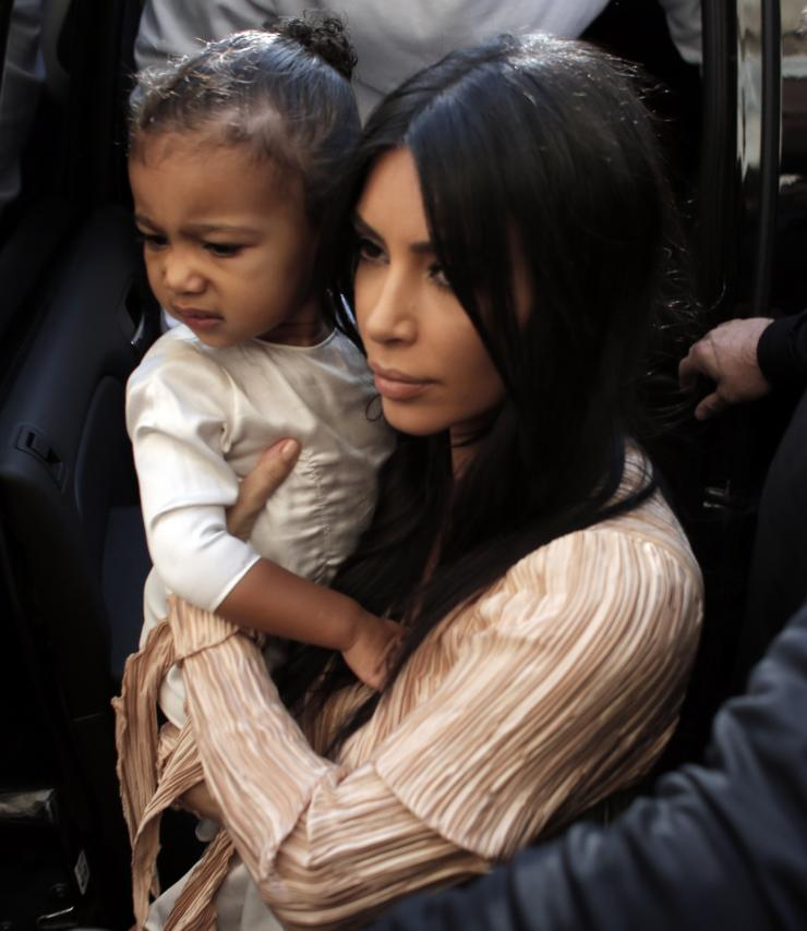North West plays with Ellen DeGeneres