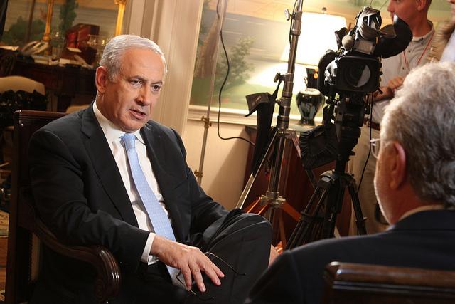 Prime Minister Benjamin Netanyahu at the Prime Minister's Office in Jerusalem