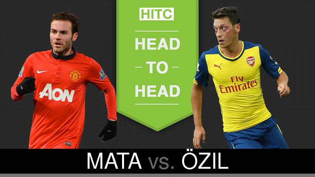 Juan Mata v Mesut Özil Head to Head How Manchester United and Arsenal stars compare 20151001
