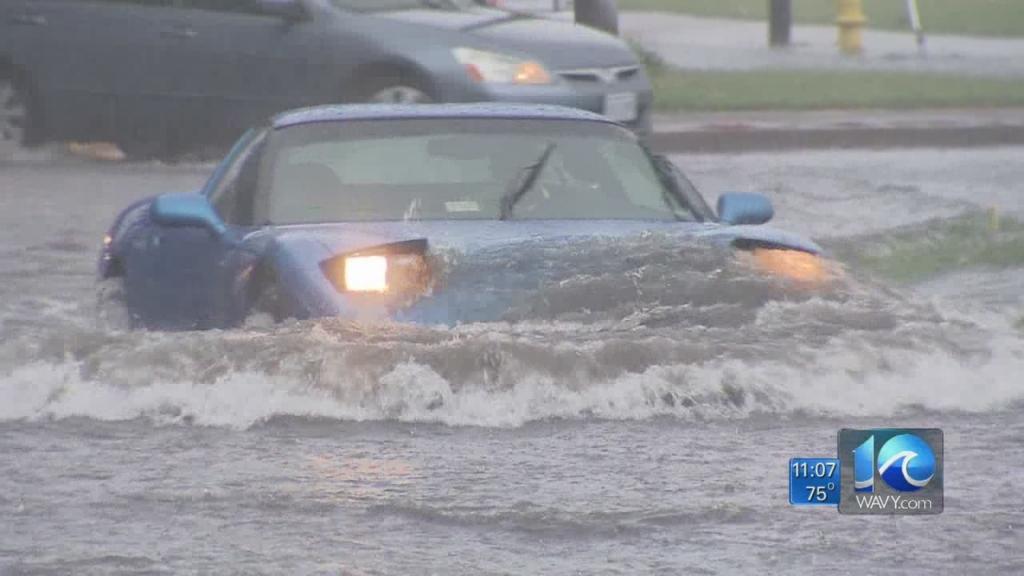 Team Coverage of flooding across Hampton Roads