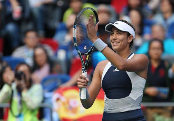 WTA Wuhan Garbiñe Muguruza Cruises Into Semi Finals Defeats Anna Karolina Schmiedlova