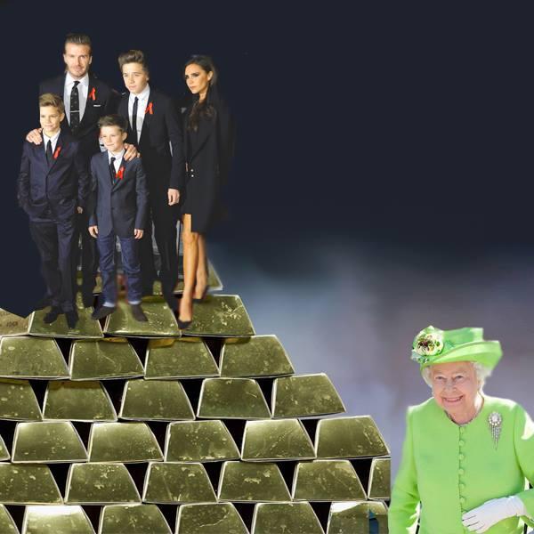 Beckham family and Queen Elizabeth