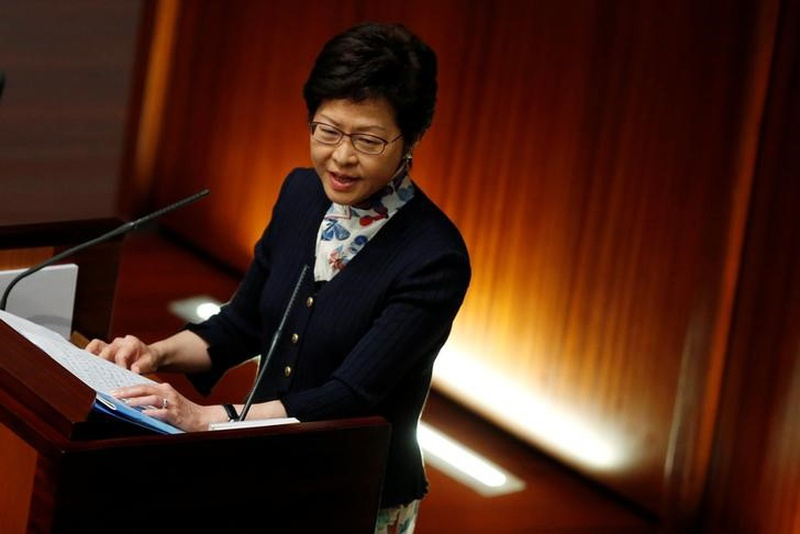 Hong Kong Chief Executive Carrie Lam attends her first Question and Answer session at the Legislative Council in Hong Kong China