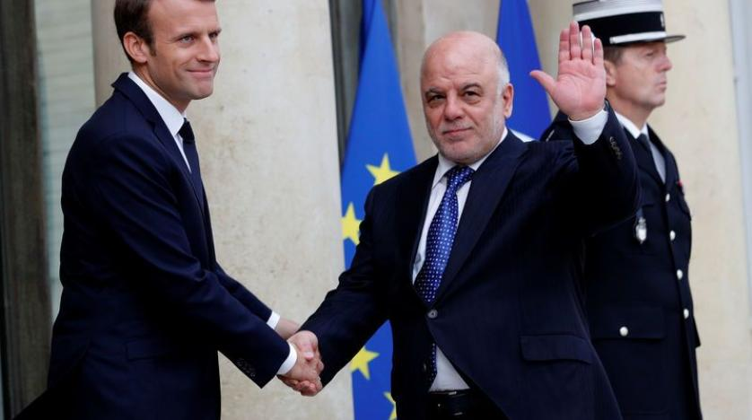 Macron and al Abadi at the Elysee on Thursday REUTERS  Philippe Wojazer