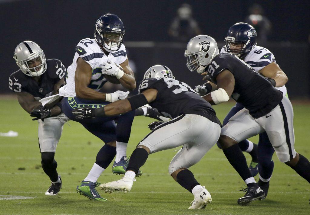 Seahawks Raiders Football