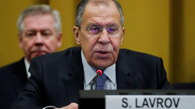 Lavrov Minister for Foreign Affairs of Russia attends the Conference on Disarmament at the United Nations in Geneva
