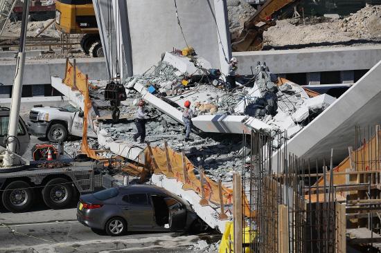 FIU Bridge Collapse: Several Dead, Cars Trapped Underneath