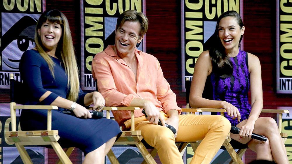 Patty Jenkins Chris Pine and Gal Gadot'Wonder Woman&#039 film panel Comic Con International San Diego USA- 21 Jul 2018